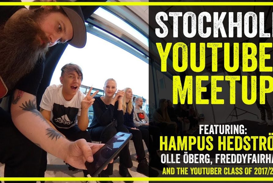 Framtidens Youtuber meetup at Scandinavian Photo & United Screens.
