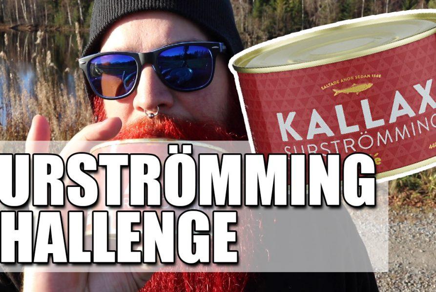 SURSTRÖMMING CHALLENGE | Äter en hel burk surströmming och nästan kräks!